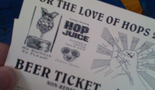 For The Love Of Hops Ticket