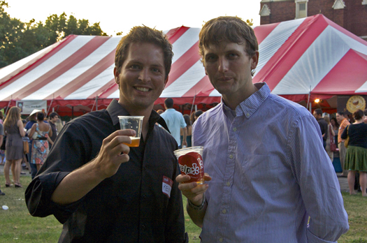 Brad Chmielewski and Ken Hunnemeder at Yelp Summerfest