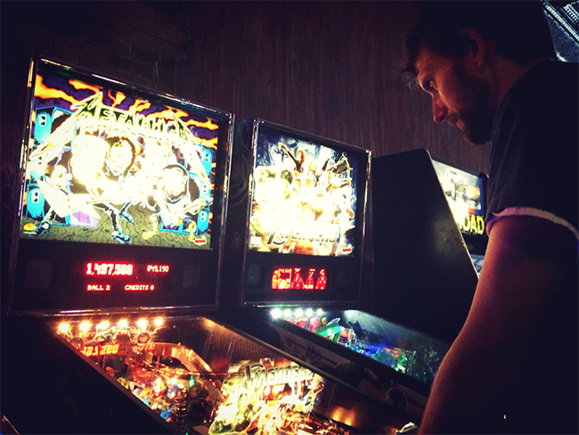 Brad Chmielewski Playing Pinball